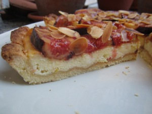 Fig Tart with Mascarpone Citrus Custard