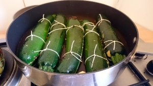 Stuffed Courgettes from Ottolenghi's Plenty More (The Second Courgette), just before cooking