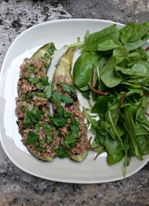 Stuffed Courgettes from Ottolenghi's Plenty (The First Courgette)