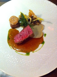 "Lamb from ""Hofgut Polting"" (salted lemon, coriander, small artichokes)"