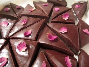 Dark Chocolate Pomegranate Fondant