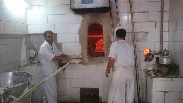 Sangak bakers in Isfahan