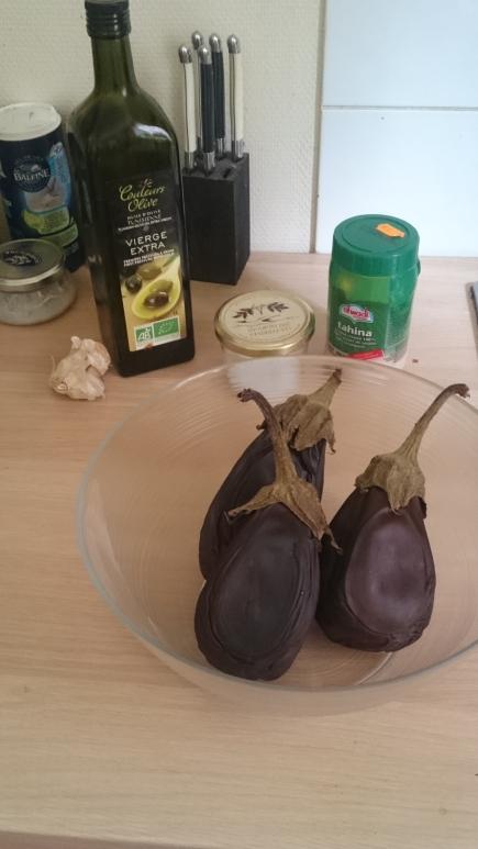 Eggplant Caviar Prep